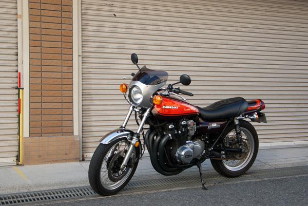 Kawasaki Z1 アルミ製ビキニカウル装着例