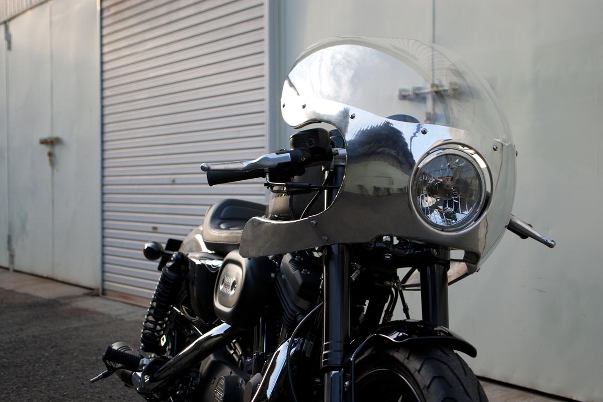 ハーレーダビッドソンXL1200CXロードスターアルミフェアリング