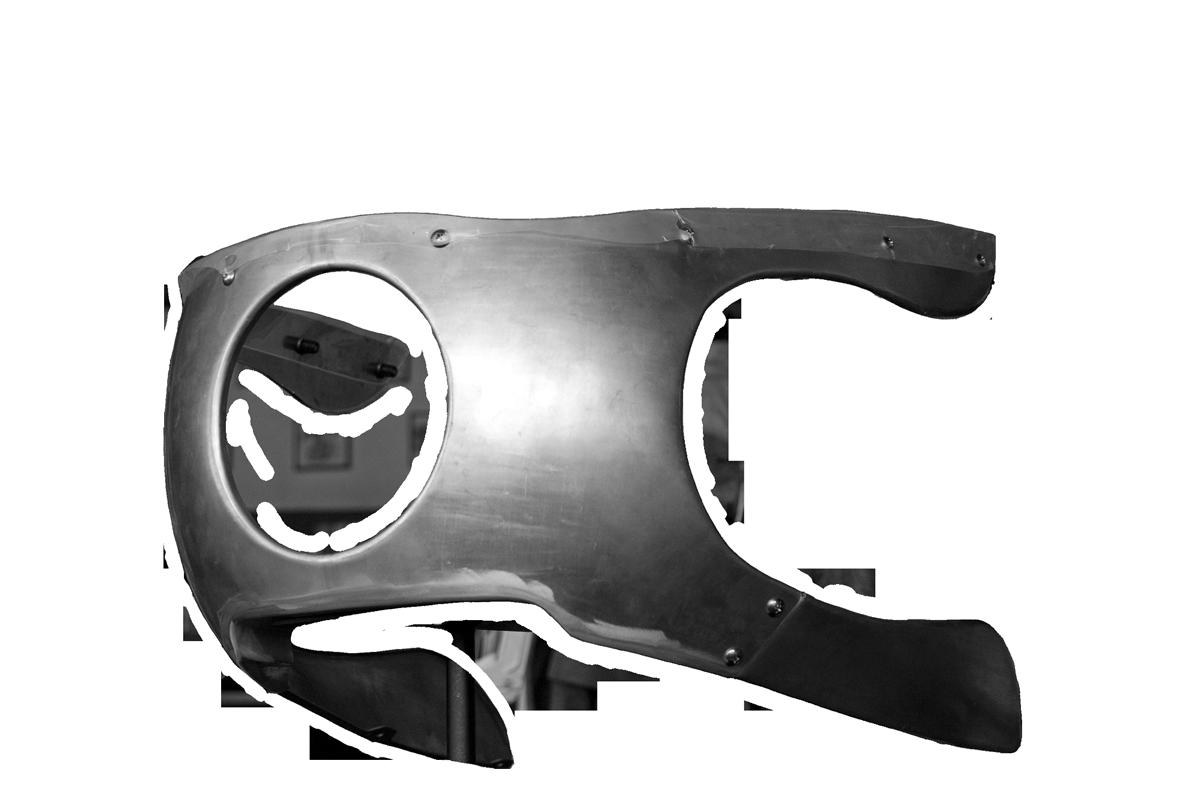 ハーレーダビッドソンスポーツスター用アルミ製カウル