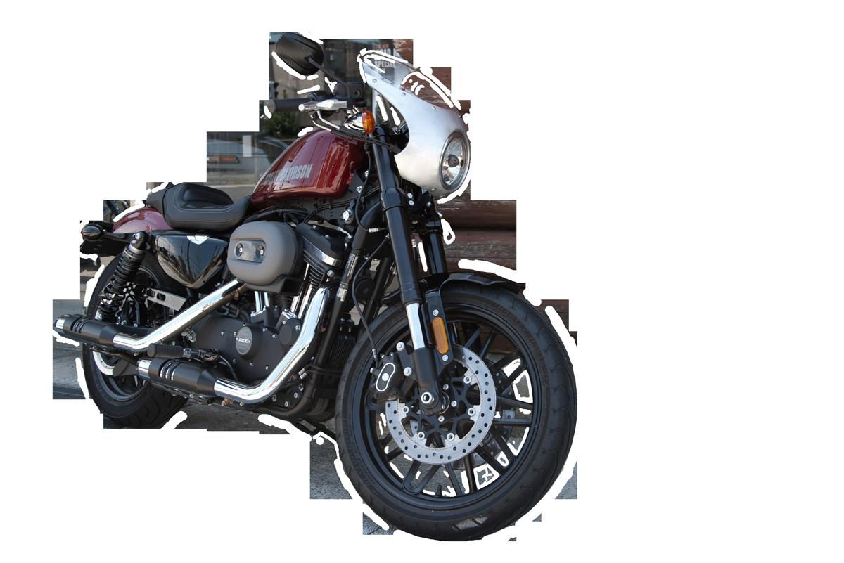 Harley-Davidson roadster with bikini fairing ロードスタービキニカウル