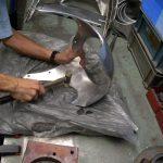 Repair of Sportster Bikini Fairing<br>ビキニカウルの修理