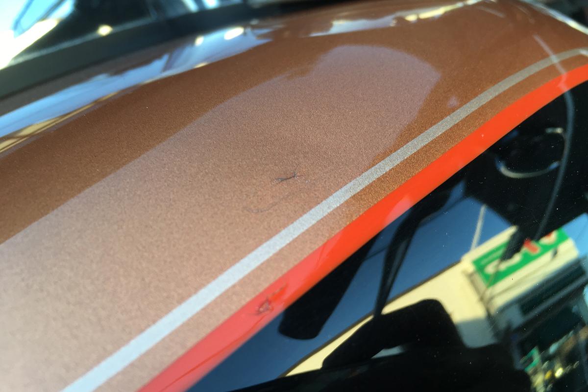 スーパーグライドカスタム 105周年記念モデル タンク 傷