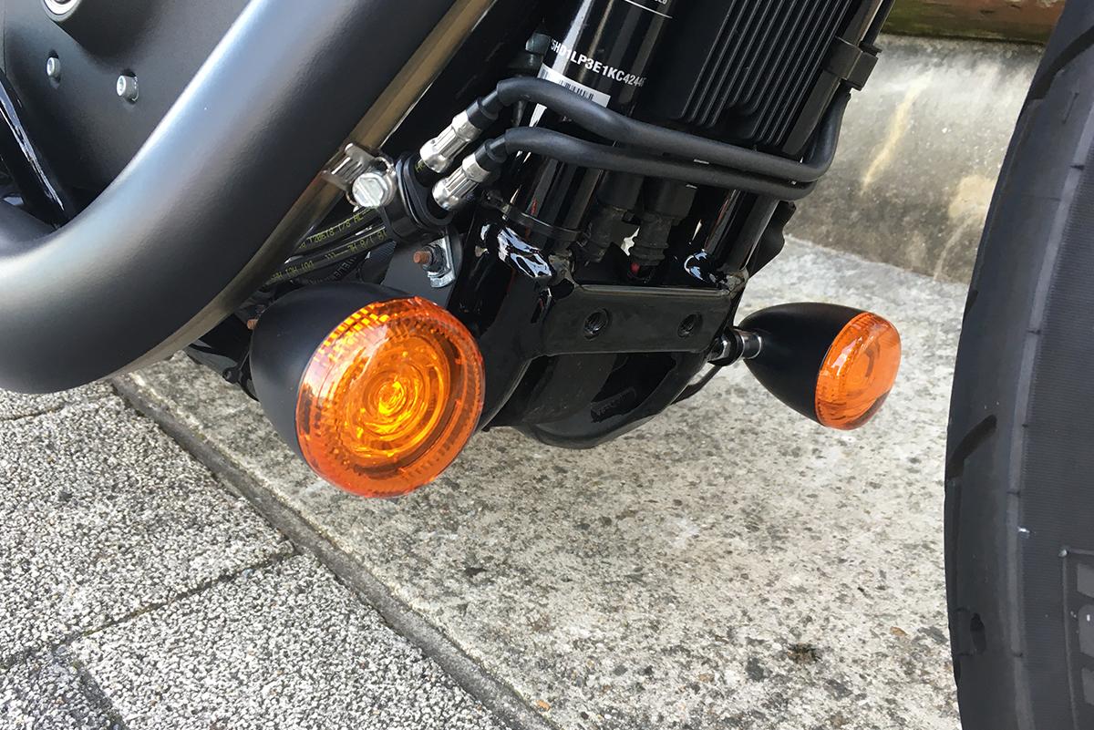 XL1200NS LEDウィンカー移設