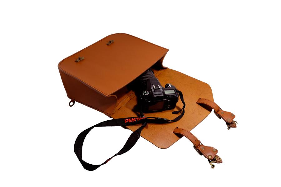 TM Leather レザーサドルバッグ ブラウン pentax